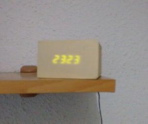 Wood Digital Clock
