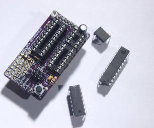 Chipper Board - ATtiny Programming Shield