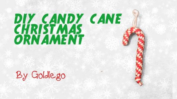 DIY Candy Cane Christmas Ornament