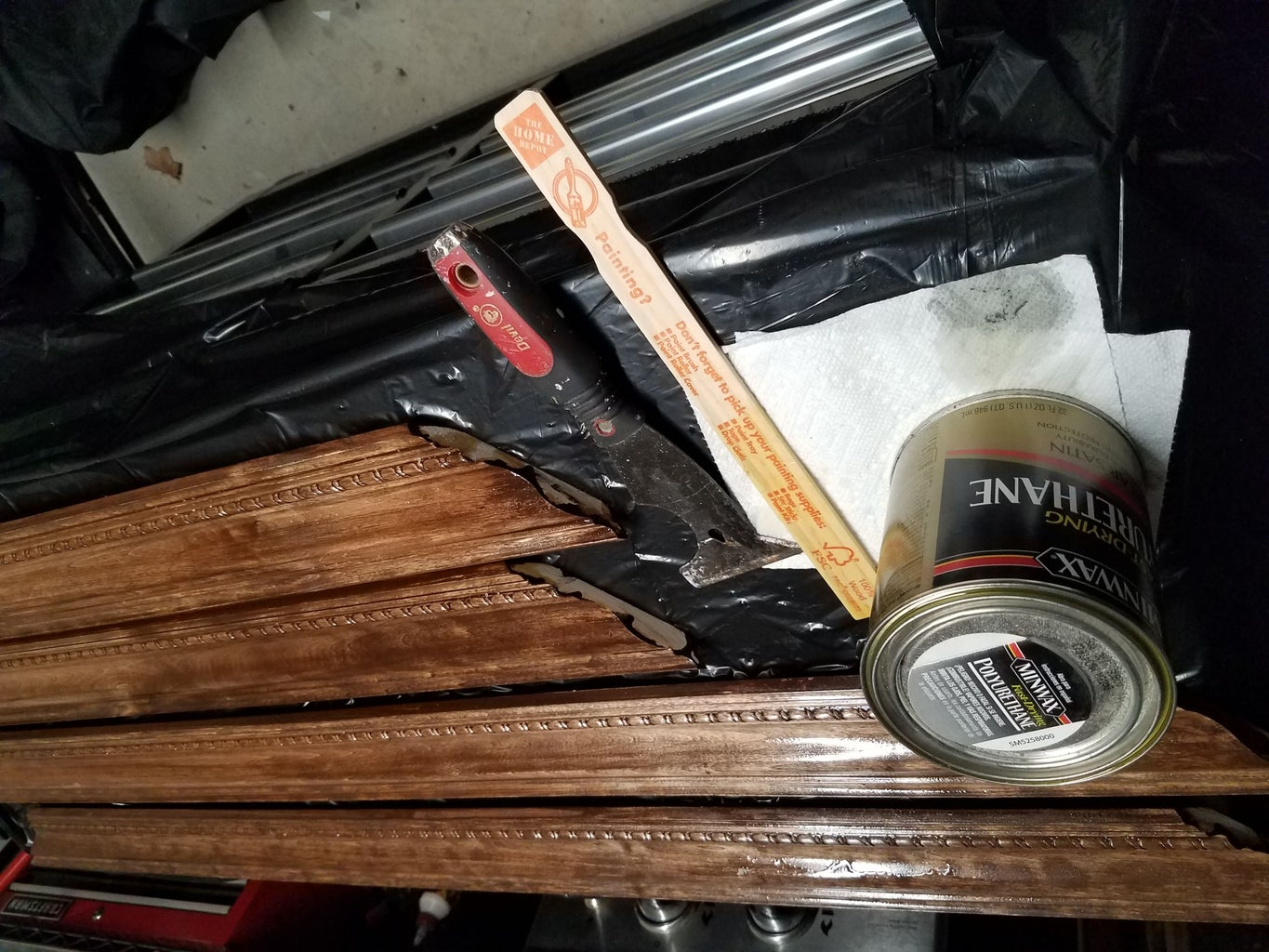 Stain (or Paint) the Frame