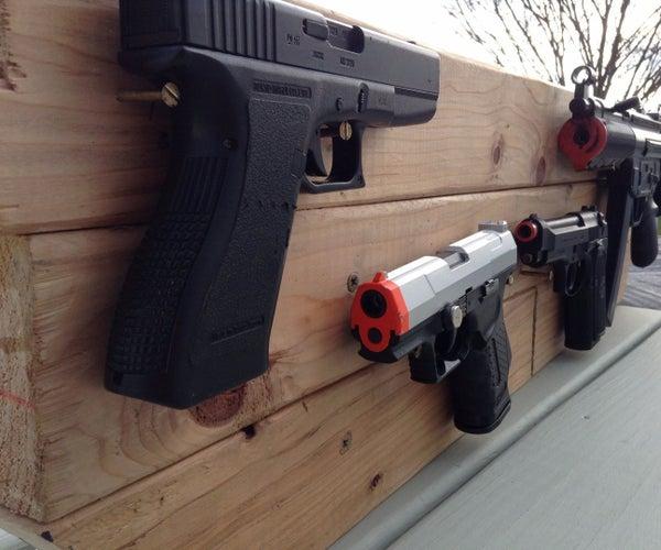 2X4 Airsoft Gun Rack