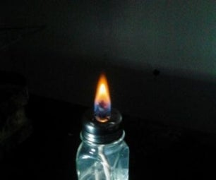 Alcohol Candle