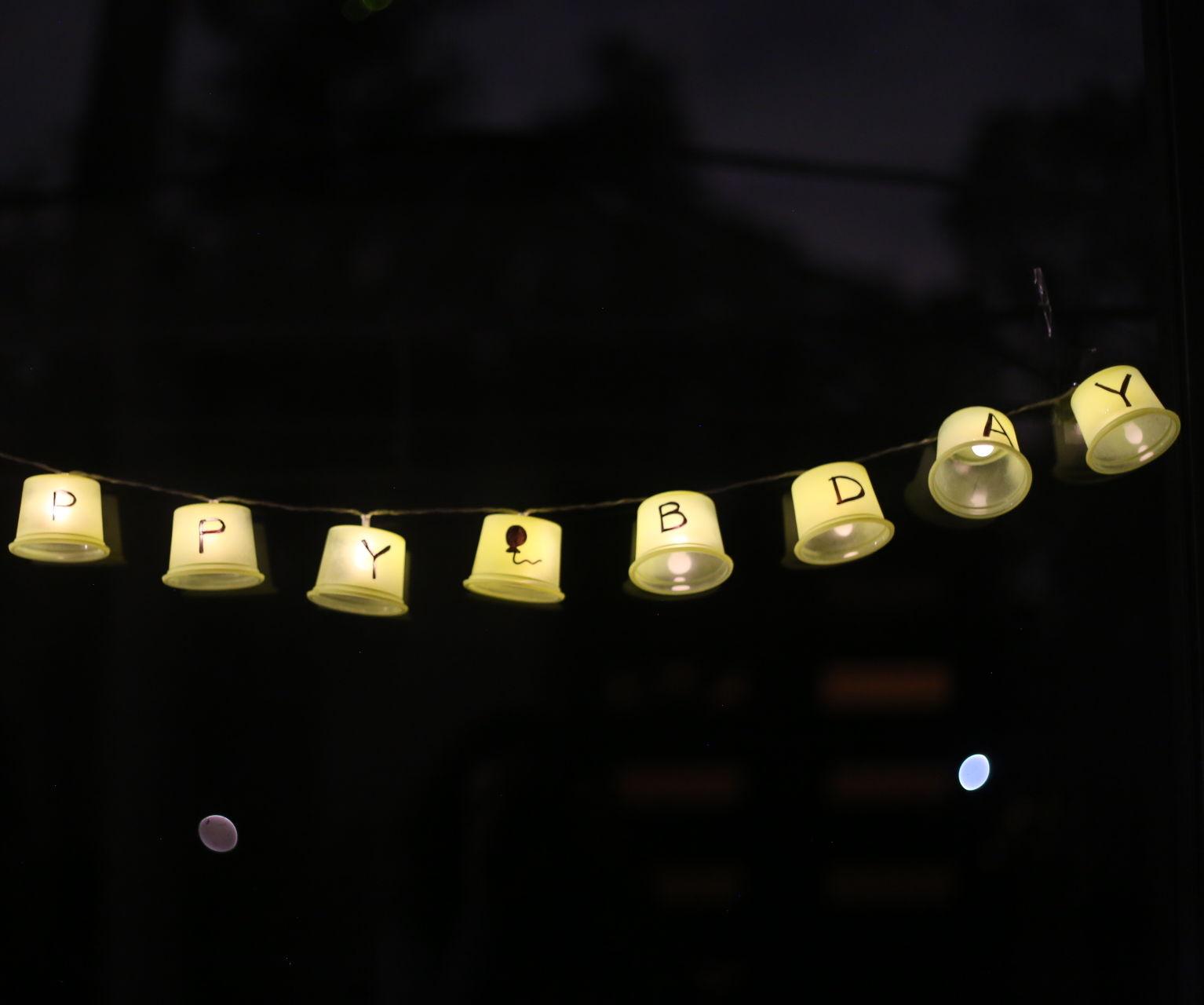 """Happy Birthday"" Lights"