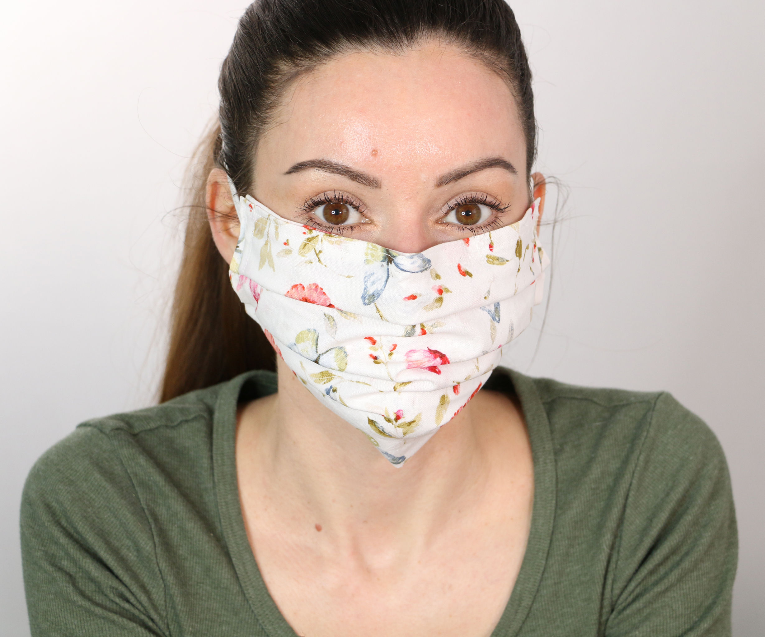 How to Sew a Fabric Face Mask With Filter Pocket (elastic Not Needed)