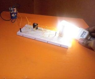Wireless Power Transmission Using a 9v Battery
