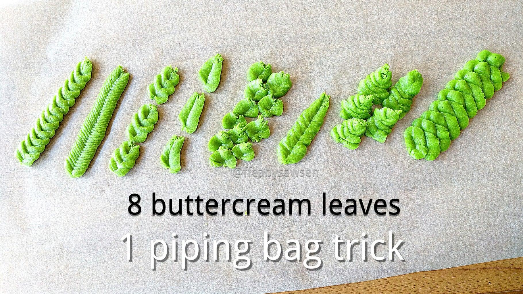 DIY Leaf Piping Tip & 8 Buttercream Leaves
