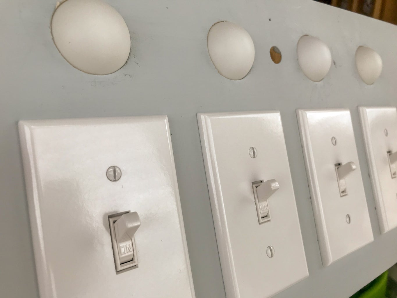 Mount the Switch Plate Covers