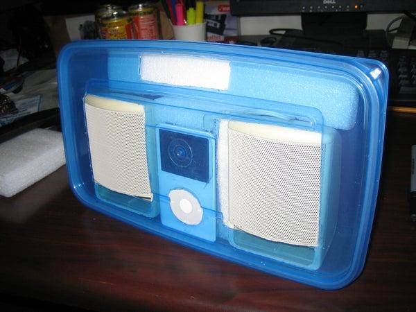 Tupperware IPod Boombox