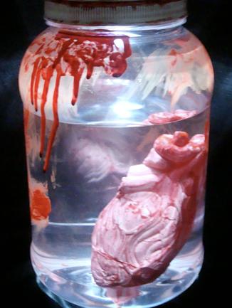 Halloween Jar of Human Heart Prop Mad Scientist