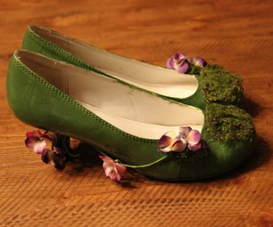 DIY Upcycled Forest Heels