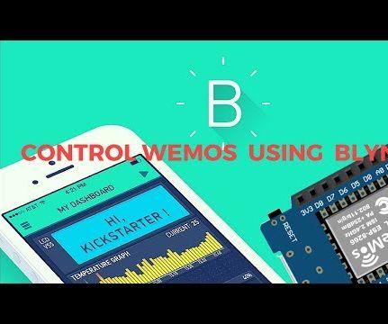 How to Control Wemos D1 Mini/nodemcu Using Blynk App (IOT)(esp8266)