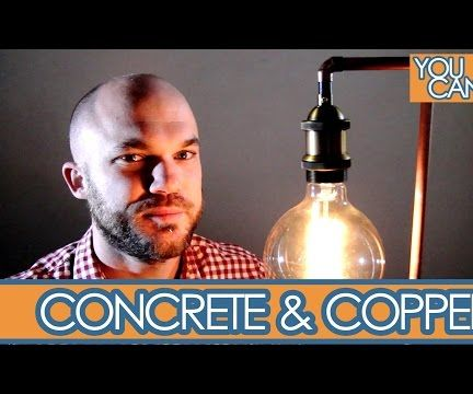 Industrial Copper And Concrete Lamp