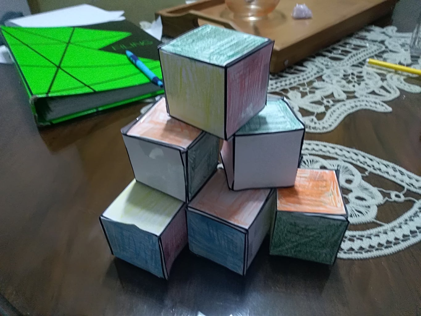 Connecting and Sewing the Cubes