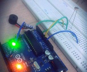 Buzzer Alarm Using LDR and Arduino