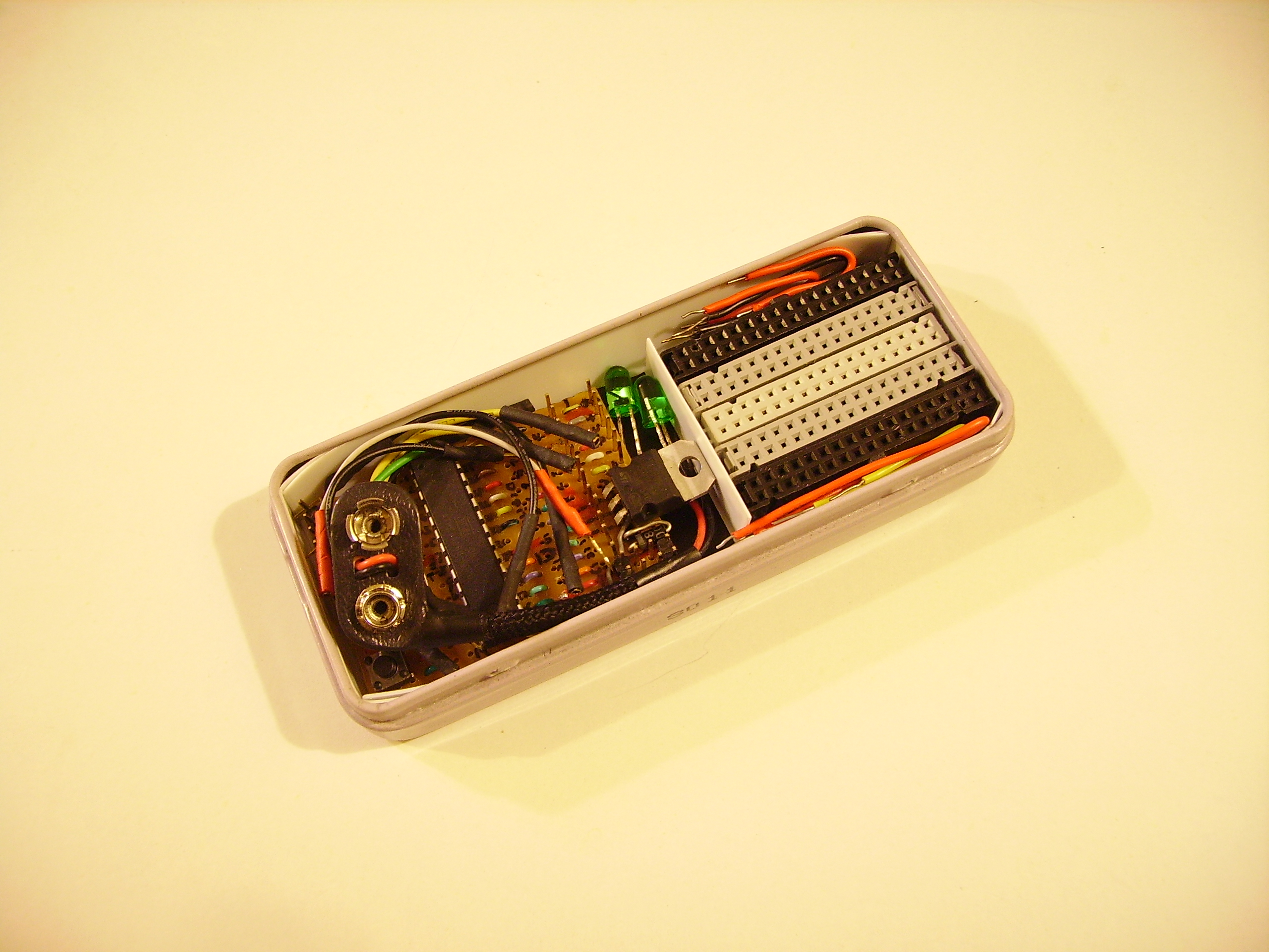 Pocket Arduino kit.