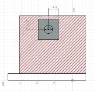 Design Process - Stationary Fixture - Clamp Screw Hole