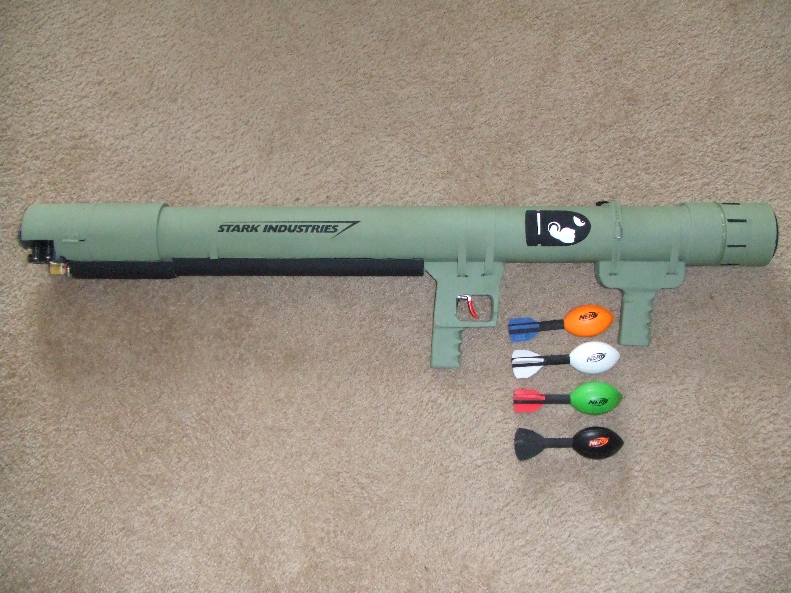 Airsoft Anti-Aircraft Style Coaxial PVC Launcher