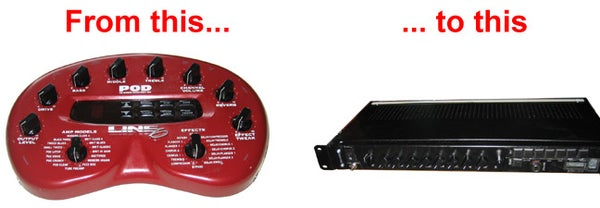 How I Rack-mounted My Line 6 Pod Guitar Effects Processor