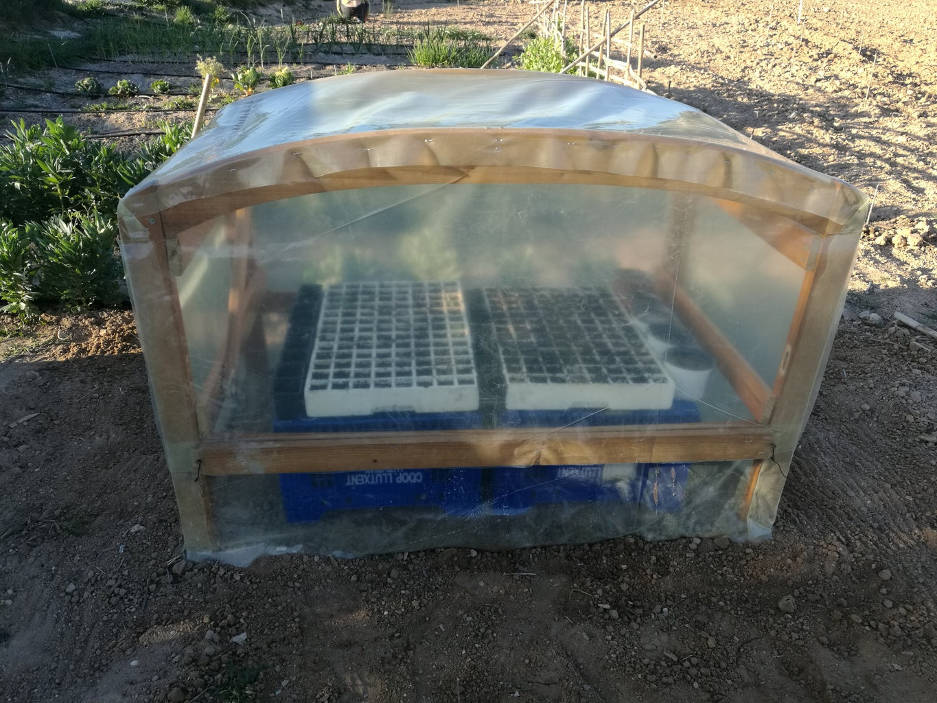 Greenhouse From Two Recycled Headboards! :)