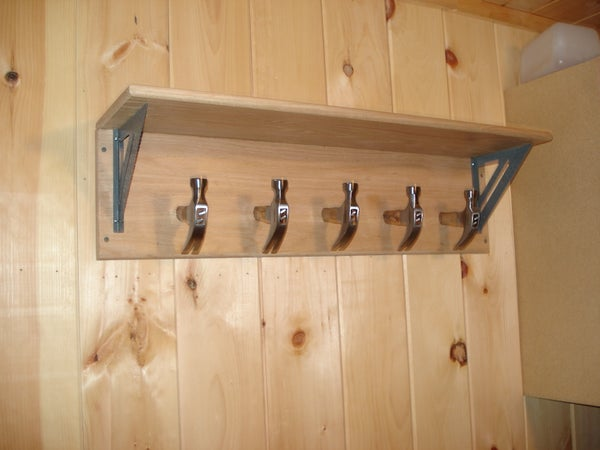 Carpenter Themed Fathers Day Coat Rack
