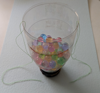Add Water Beads to Bottle