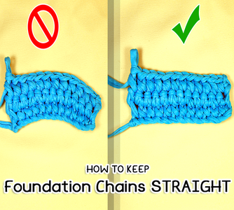 How to Keep Foundation Chains Straight or Flat