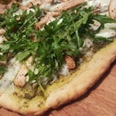 Spicy Pesto Chicken Pizza