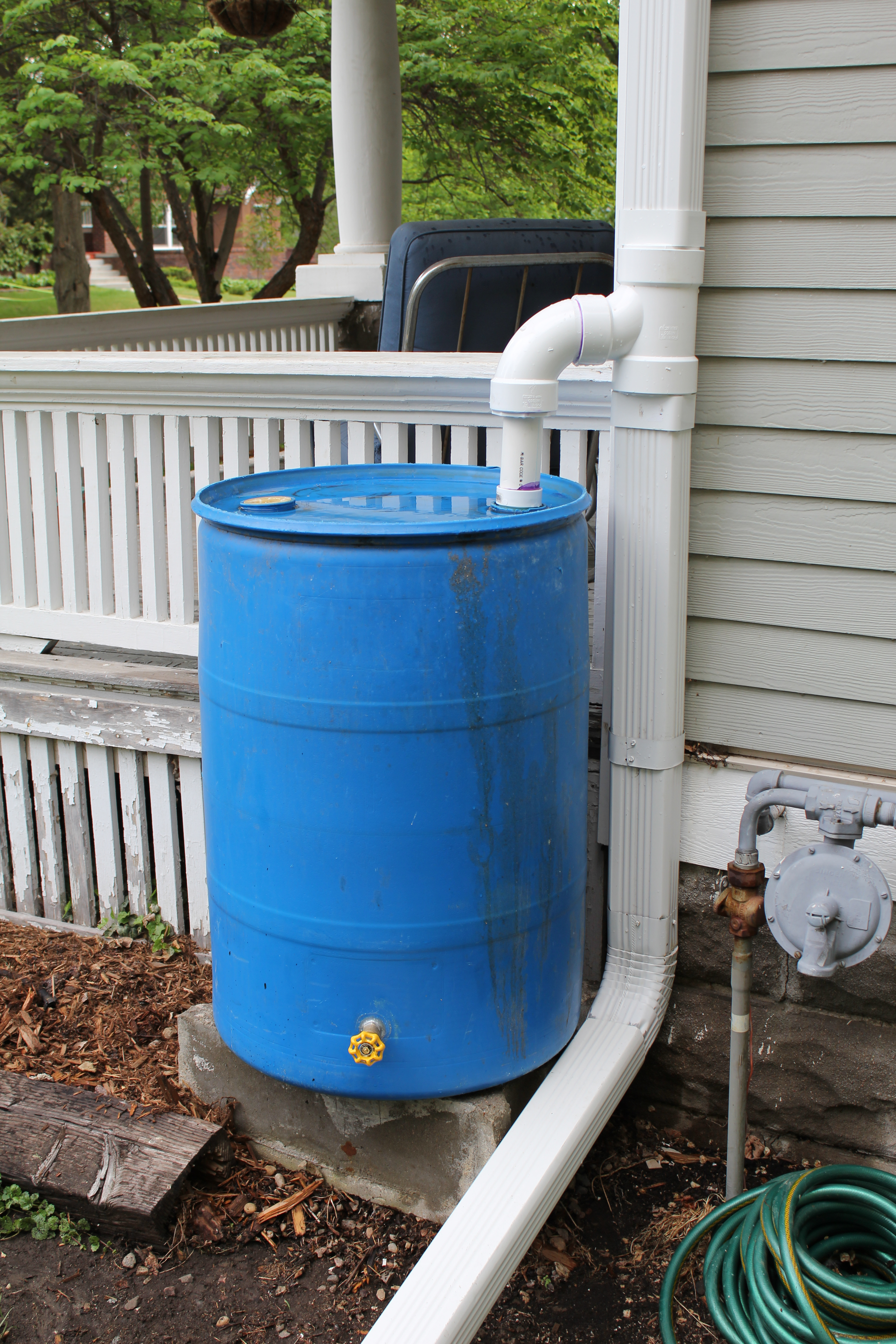 Rain Barrel and Diverter
