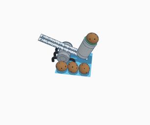 使用家用物品的土豆发射器