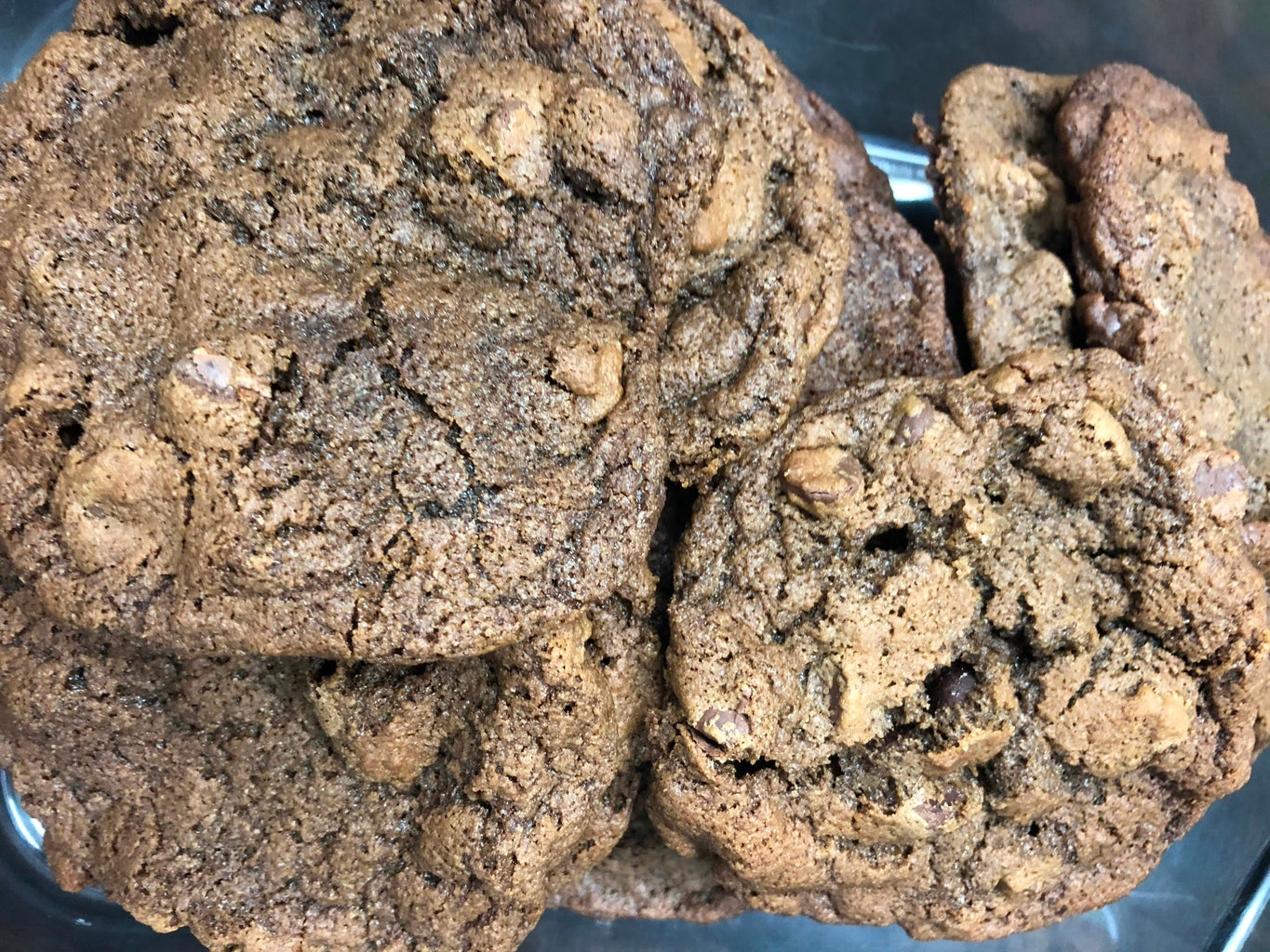 Homemade Double Chocolate Chip Cookies