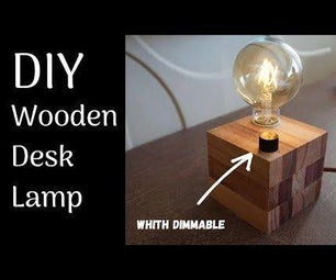 Wood Desk Lamp Dimmable