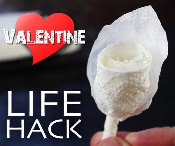 Restaurant Lifehack - Instant Flower Valentine