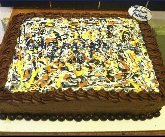 How to: Jackson Pollock Cake