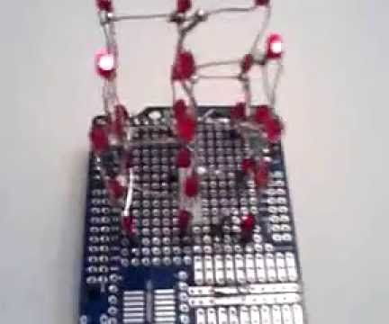 3x3x3 Red LED Cube