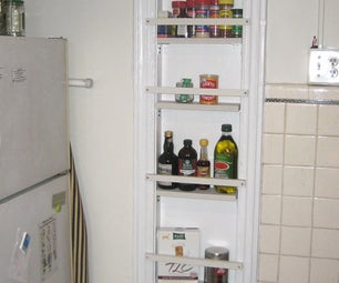 Convert an Old Ironing Board Nook Into a Spicy Spice Rack