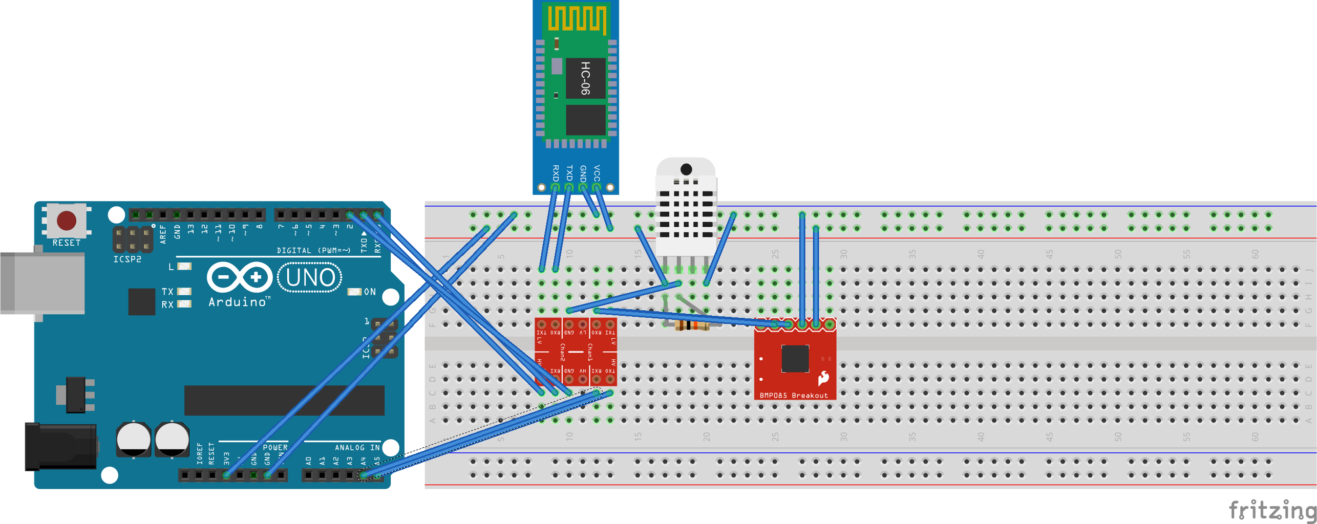 How to Wire the Componets on a 5V Microcontroler Board