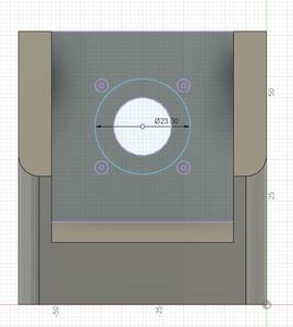 Design Process - Stepper Motor Mount - Stepper Motor - Raised Bearing Cutout