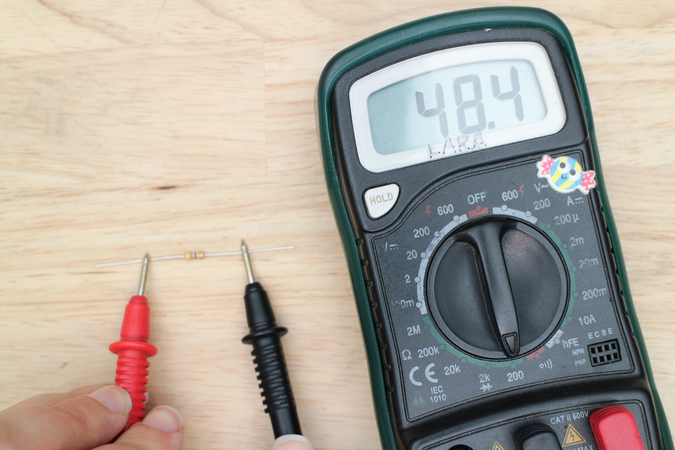 Introduction To Electronics Low Voltage Circuit Tester Besides Ohms Symbol On Multimeter Now You Are Read The Resistance Of Anything That Electricity Can Travel Through Grab Another Resistor And Test Even A Small Part Your