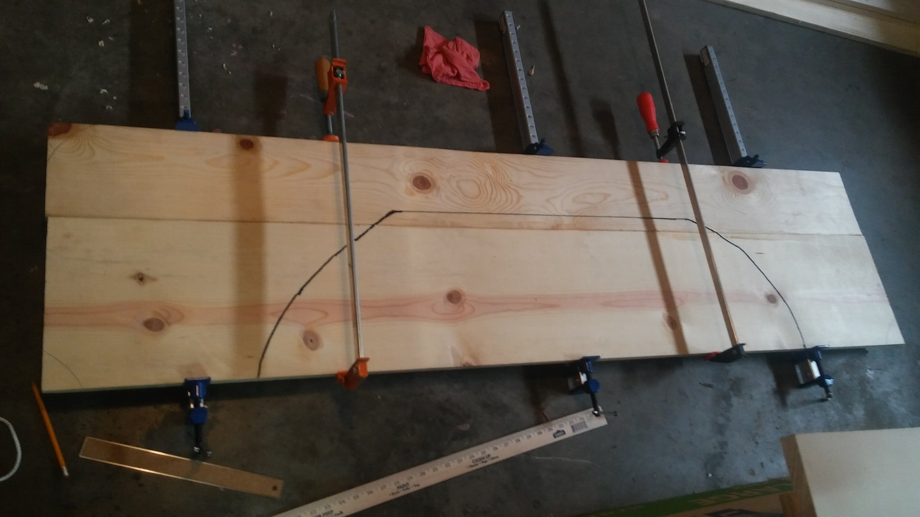 Step One Scribbly, First Thought Out Plans and Cutting the Side Panels