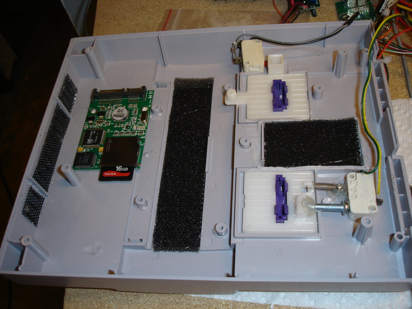 Add Switches and Vents, and Hard Drive
