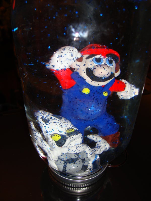 """Super Mario Brothers With Dry Bones Dungeon """"Snow"""" Globe"""
