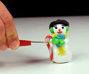 ♡ Miniature Polymer Clay Snowman ♡