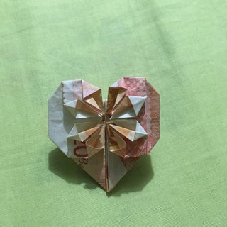 Dollar Bill Origami Heart