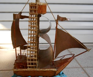The Wooden Stick Sailboat
