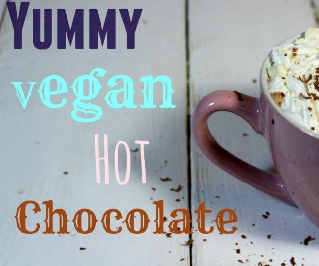 Whipped Cream Hot Chocolate with Marshmallows (Vegan)