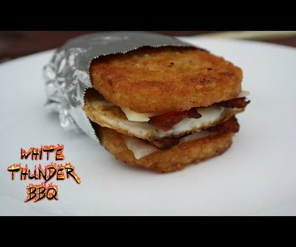Hash Brown Breakfast Sandwich   White Thunder BBQ