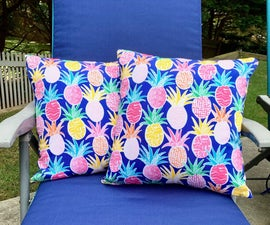 Make Outdoor Pillows With Washable Covers!
