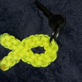 Paracord Breast Cancer Awareness Keychain