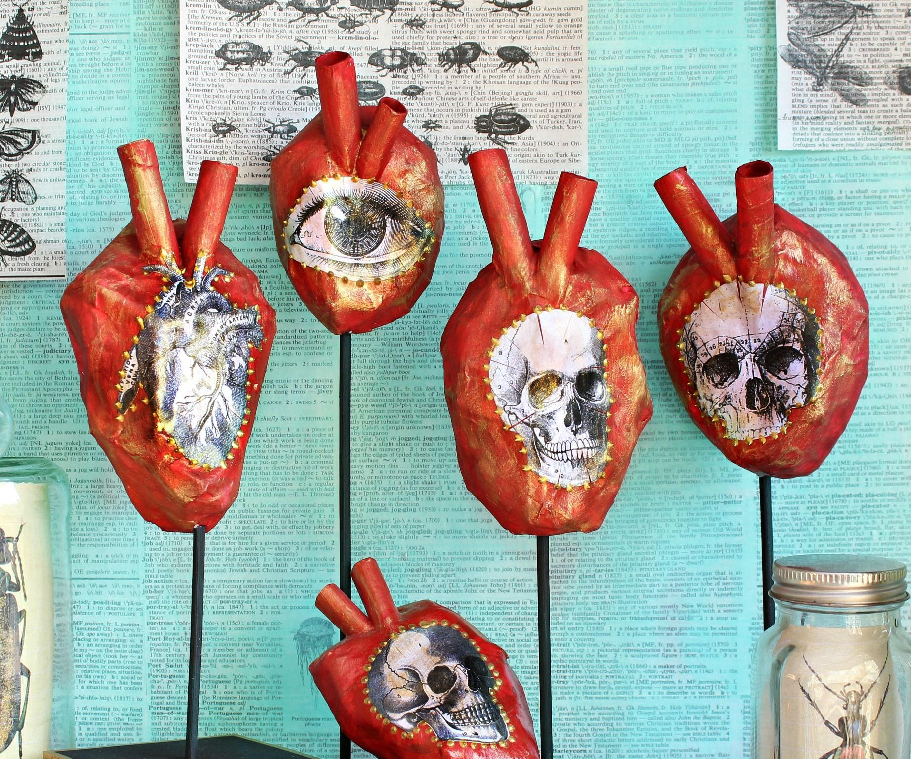 Paper Mâchê Anatomical Hearts