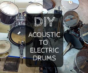 鼓转换 - 用DIY头和触发器声学